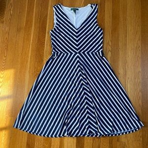 Ralph Lauren blue and white dress size PS